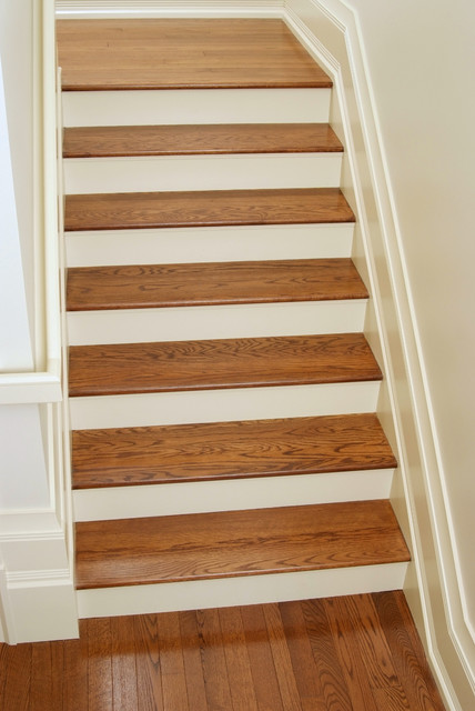 White Oak Stair Treads Craftsman Staircase