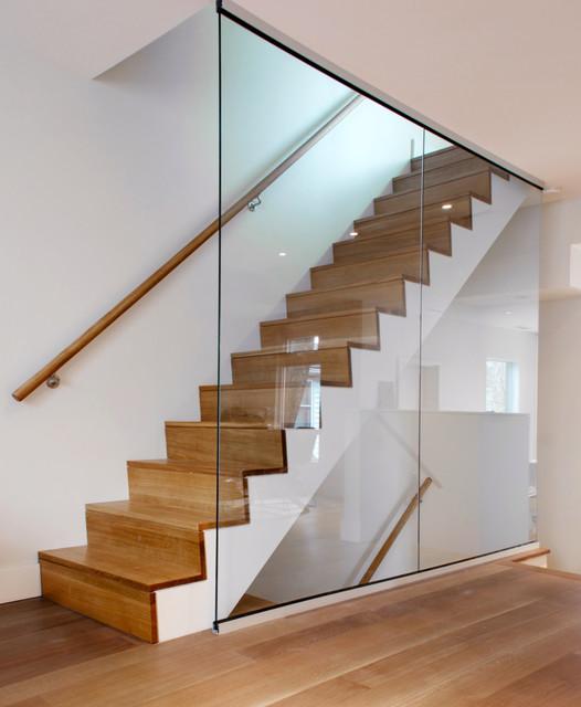 White Oak Staircase Modern Toronto By