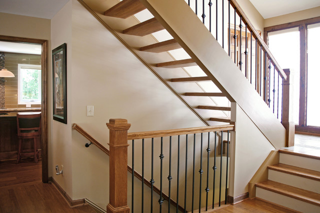 Whole House - Transitional/Modern transitional-staircase
