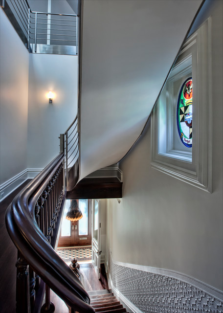 Wicker Park Residence traditional-staircase