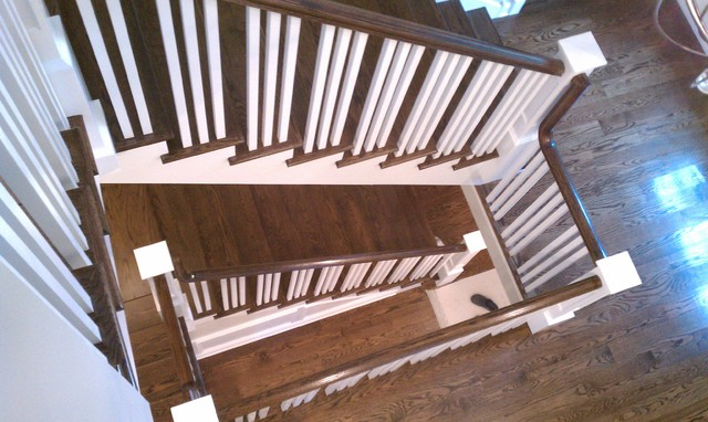Wilmette custom home traditional-staircase