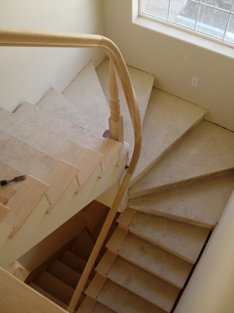 loft conversion ideas before and after - winder stairs