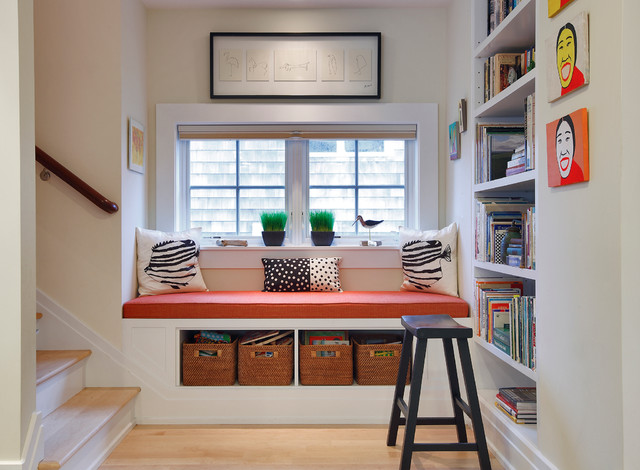 Window Seat traditional-staircase