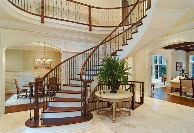 Winnetka Custom Home Traditional Staircase