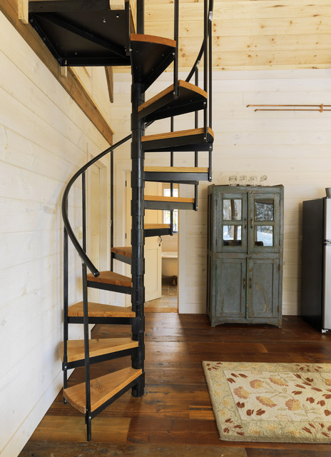 Winter Cabin Rustic Staircase Burlington By Susan