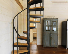 Winter Cabin rustic-staircase