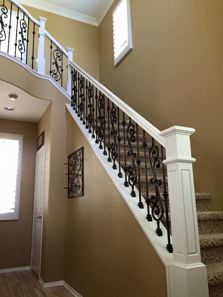 Wood & Iron - Traditional - Staircase - San Diego - by ...