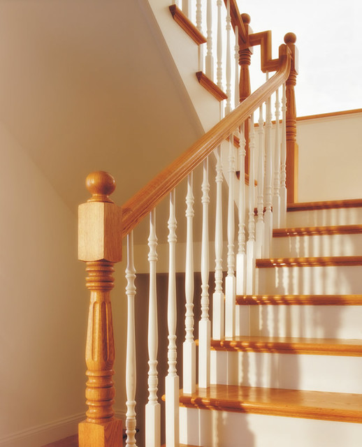 Perfect Wood Balusters Traditional Staircase