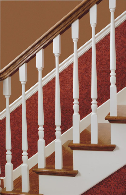 Wood Balusters Traditional Staircase Chicago By