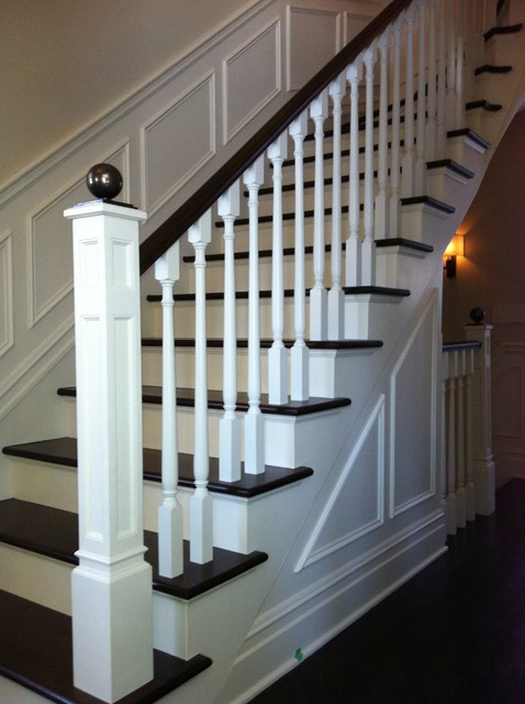 Wood Railing traditional-staircase