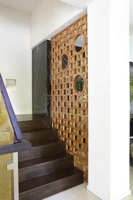 Wood Screen Contemporary Staircase San Francisco