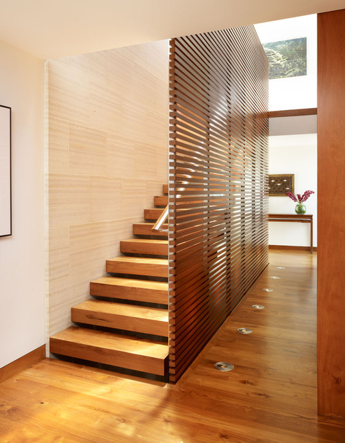 Wood staircase asian staircase los angeles by - Stairs design inside house ...