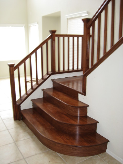 Wood Stairs Traditional Staircase Las Vegas By JD Inc