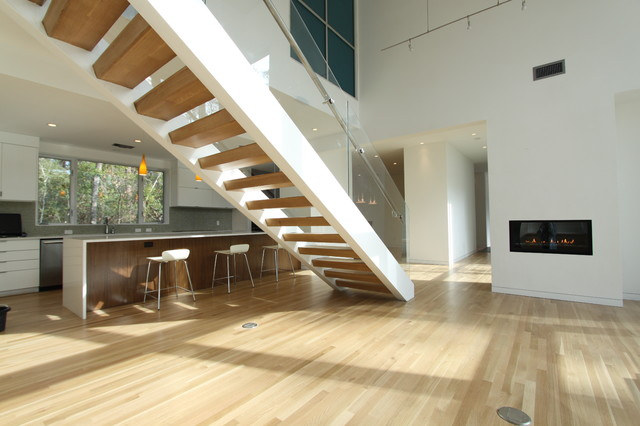 Woodlands Modern House Contemporary Staircase