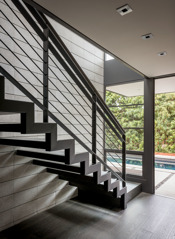 Woods Cove Midcentury Staircase Orange County By Hill Construction Company