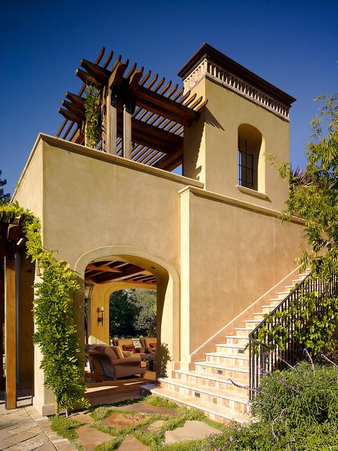 Woodside Residence mediterranean-staircase