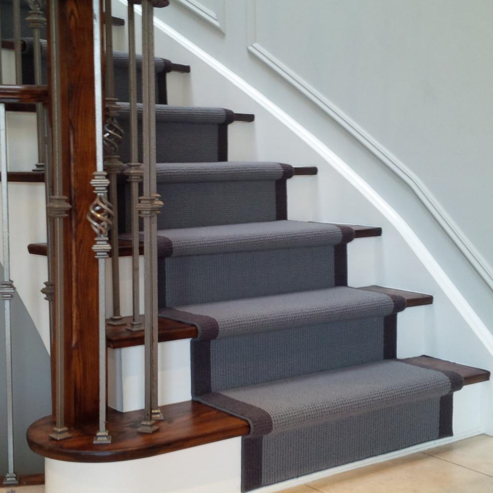 Wool Carpet Runner For Oak Stairs