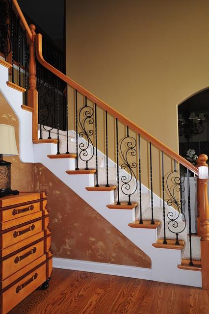 Wrought iron baluster upgrade - Amenager un dessous d escalier ...