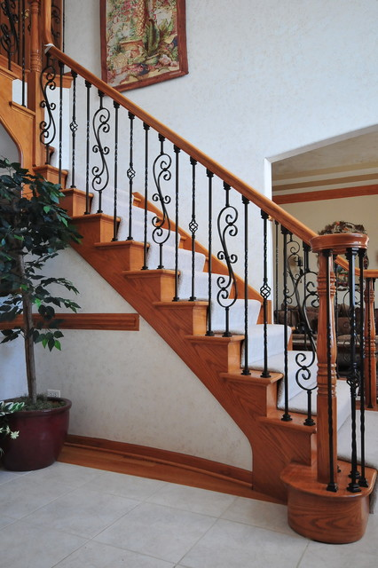 Wrought iron baluster upgrade for Custom staircase design