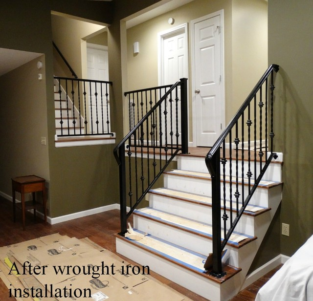 Wrought Iron Interior Railing - Traditional - Staircase