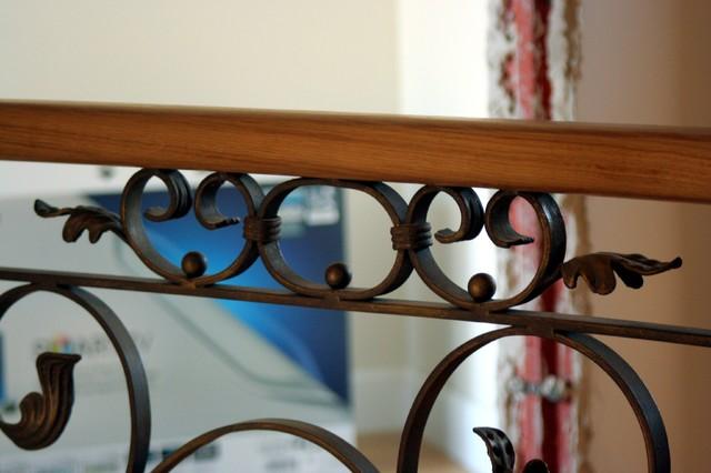 Wrought iron railing - 2 mediterranean-staircase