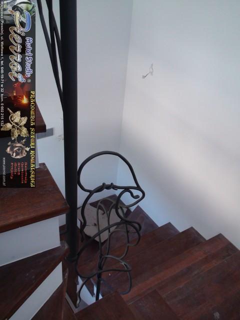 Wrought iron railing - balustrada kuta - 21 staircase