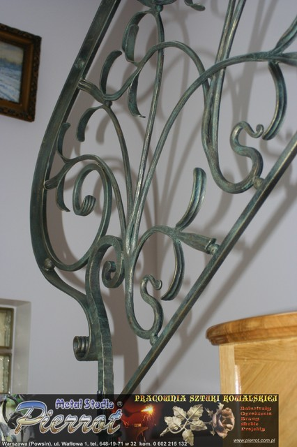 Wrought iron railing - balustrada kuta - 23 staircase