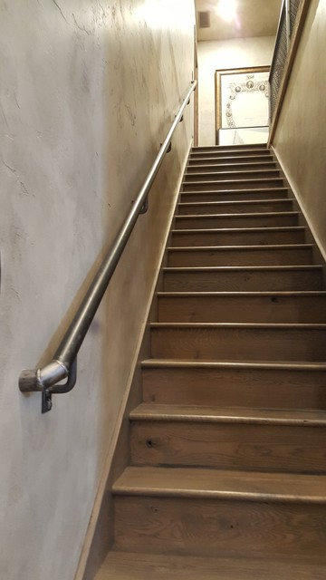 Wrought Iron Stair Handrail Rustic