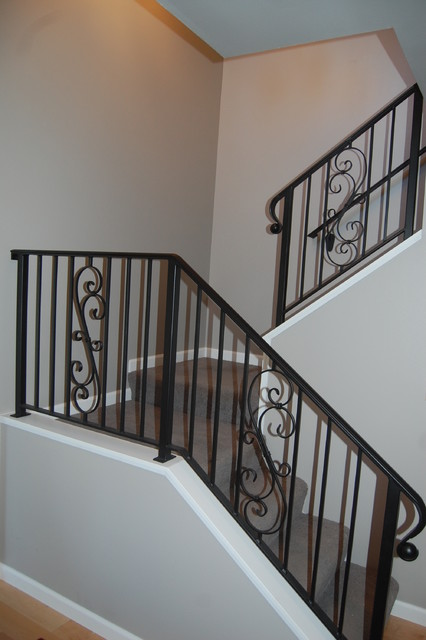 Wrought Iron Stair Rails - Traditional - Staircase