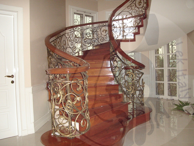 Wrought Iron Staircase Baroque Contemporary Staircase