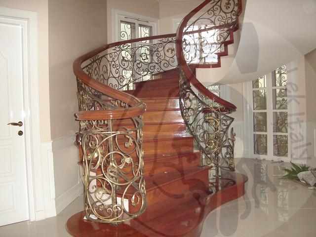 Wrought Iron Staircase Baroque Contemporary Staircase