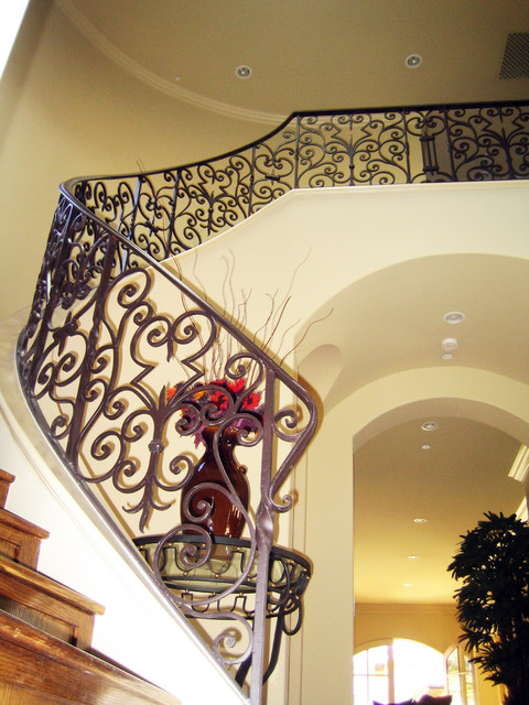 Wrought Iron Stairs Mediterranean Staircase Los