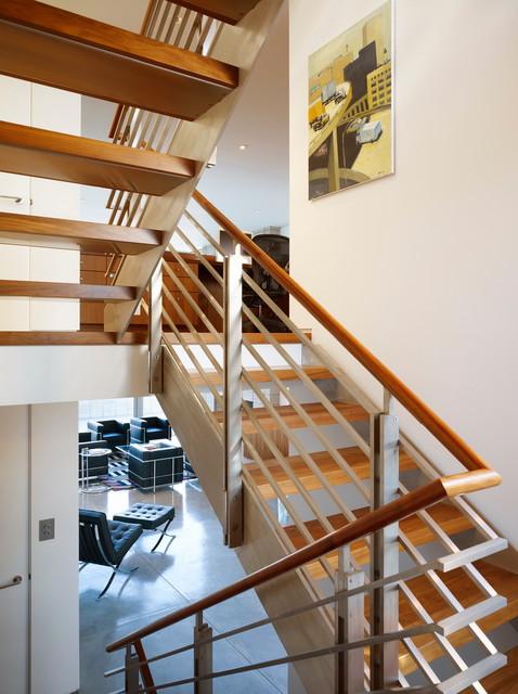 Zeidler Residence modern-staircase