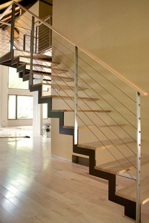 Zig Stair Modern Staircase Chicago By Iron Amp Wire Llc