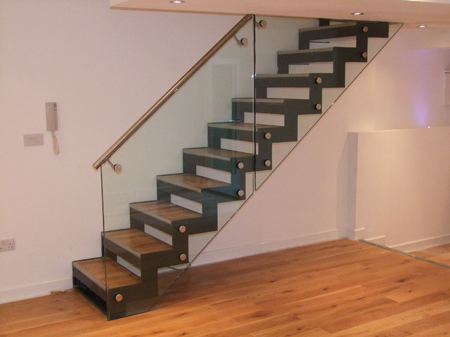 Zig Zag Design Staircase Modern Staircase London By Essex Design Fabrications Ltd Houzz Ie