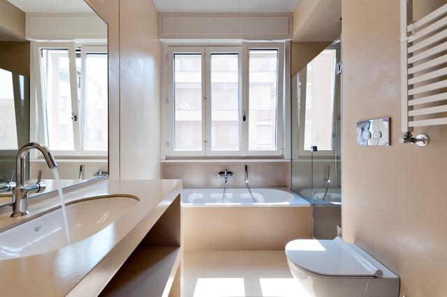 Vasca Da Bagno Incasso Sottopiano : 11470 dm2 contemporaneo stanza da bagno milano di tommaso
