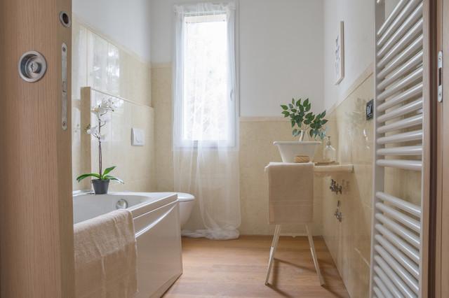 bagni arredati. arredamento verde per un bagno piccolo with bagni ... - Immagini Di Bagni Moderni Arredati