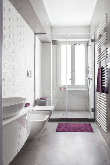 Andrea castrignano minimal underground industriale stanza da bagno milano di riccardo - Andrea castrignano bagno ...