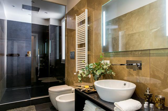 Appartamento 60 contemporaneo stanza da bagno roma di