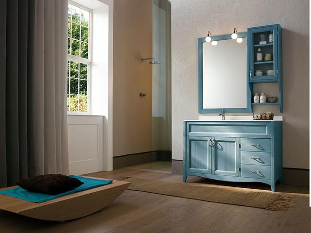 Esempio di una stanza da bagno stile marinaro