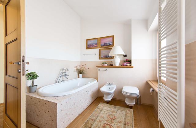 Bagni In Marmorino : Bagni di transizione stanza da bagno di rovegnodesign