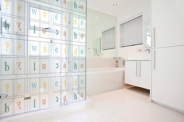 Box doccia e parete divisoria per il bagno con stampa - Stampe per bagno ...