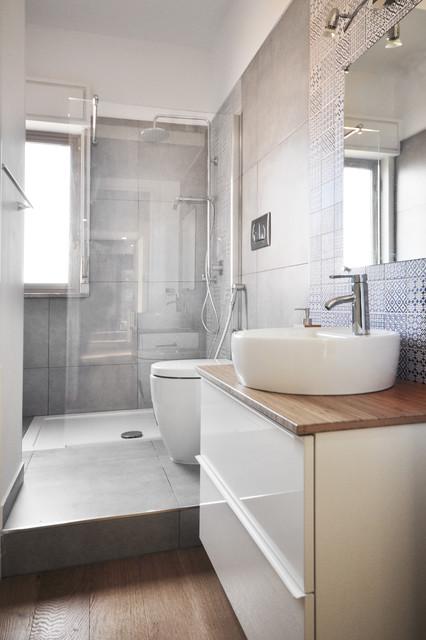 Casa ab contemporaneo stanza da bagno catania palermo di degma - Piastrelle bagno catania ...