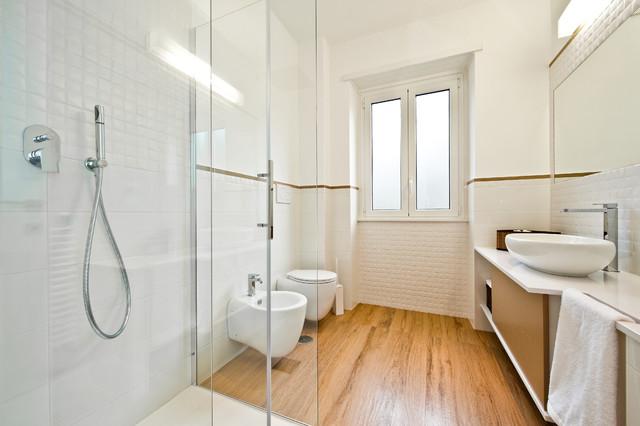 Casa cb 120 mq scandinavo stanza da bagno roma di