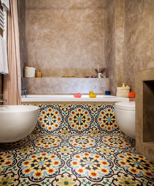 Casa CM_G 100 metri quadri vicino al Colosseo mediterraneo-stanza-da-bagno