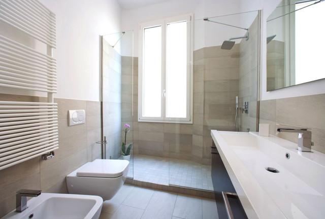 Casa L contemporaneo-stanza-da-bagno