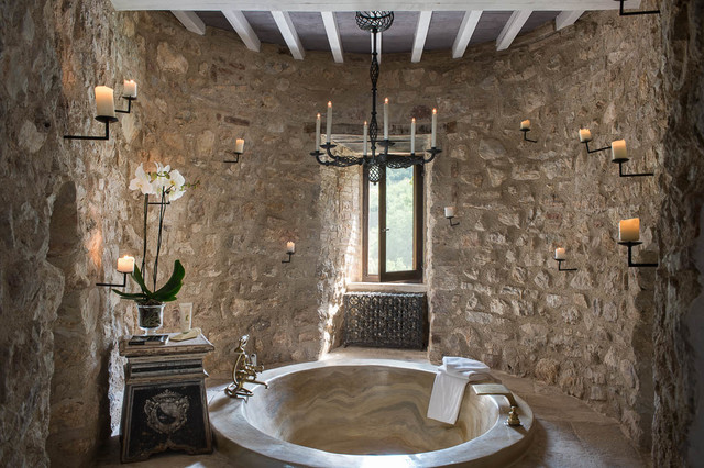 Vasca Da Bagno Incasso Pavimento : Castello di procopio mediterraneo stanza da bagno firenze