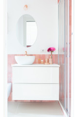 12 Ways With Clay Pink Bathroom Tiles