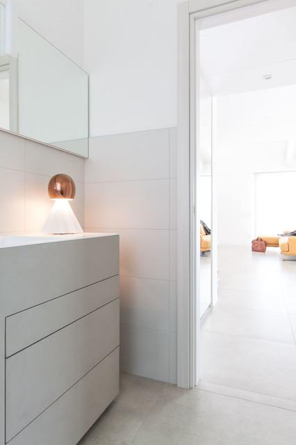 Ispirazione per una stanza da bagno minimal