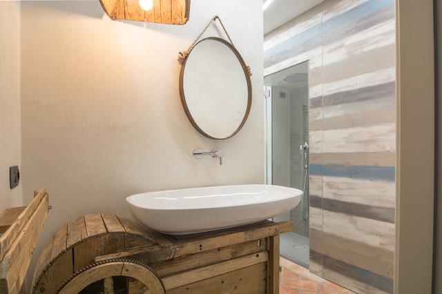 Industrial style vintage style contemporaneo stanza da bagno